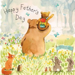 FIZ36 - Fathers Day Card Dad Bear